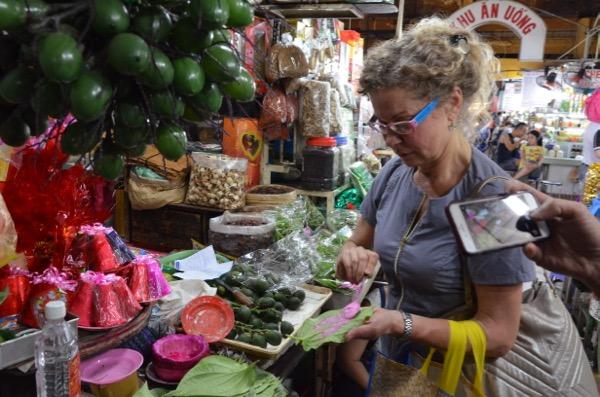 At Ben Thanh Market buying Betel Nut